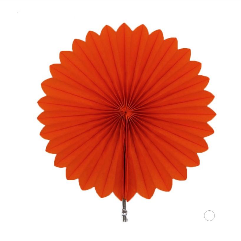 Веерный Круг тишью (оранжевый) 40 см