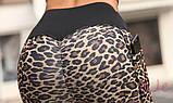 Леопардовые лосины для занятий фитнесом и йогой, фото 4