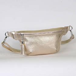 Женская поясная сумочка 01 золотистый флотар  01010110