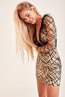 Платье Gepur 32978 Бежево-черный L