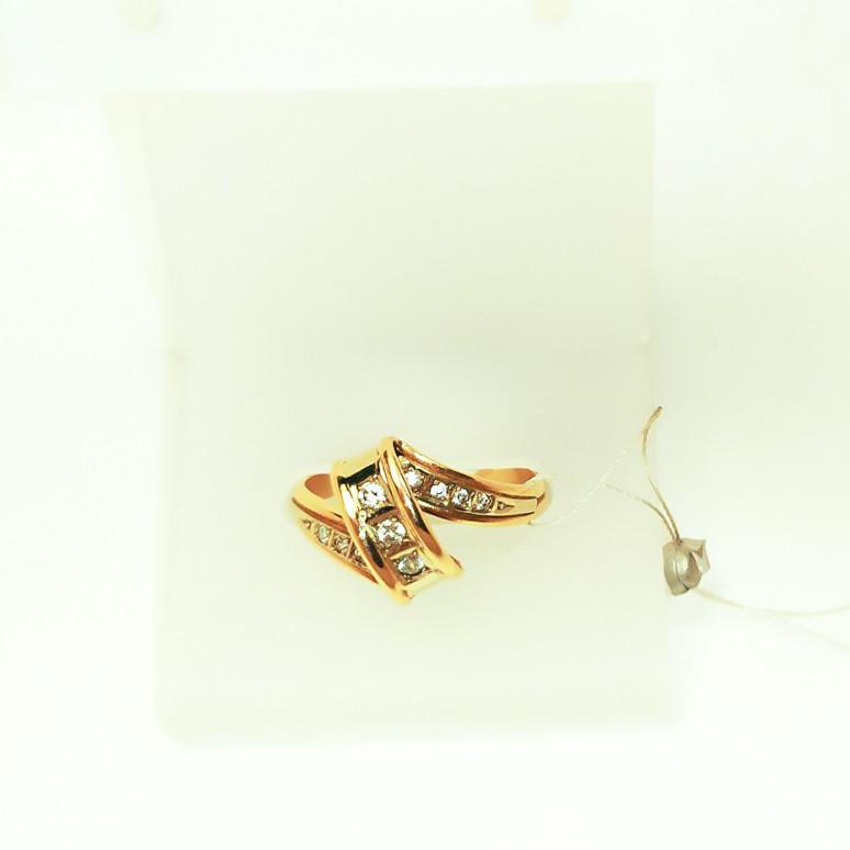 Золотое кольцо с фианитами Виола