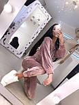 Прогулянковий/спортивний велюровий/оксамитовий костюм:коротка кофта та штани з високою посадкою (в кольорах), фото 9