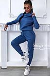 Женский вязаный спортивный костюм под горло на рукавах с орнаментом в стиле спорт шик, фото 8