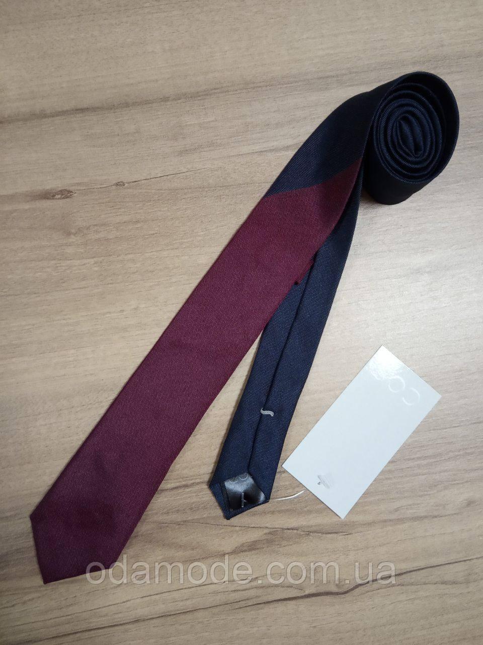 Галстук шёлковый двухцветный COS (Швеция)