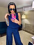 Женский комбинезон брючный летний с широкими брюками (в расцветках), фото 5
