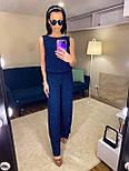 Женский комбинезон брючный летний с широкими брюками (в расцветках), фото 7