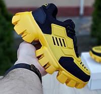 Женские кроссовки Prada Cloudbust Thunder желтые с черным 36-40р. Живое фото. Реплика