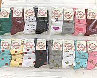 Носки женские, стрейч, с рисунком и вышивкой, 12 пар