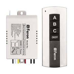 Дистанционный выключатель света Feron TM76 230В 3 канала, фото 2
