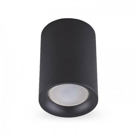 Накладной светильник цилиндр Feron ML174 под лампу MR16 GU10 черный 70*110мм, фото 2
