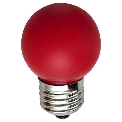 Светодиодная лампа Feron LB-37 G45 230V 1W E27 красная