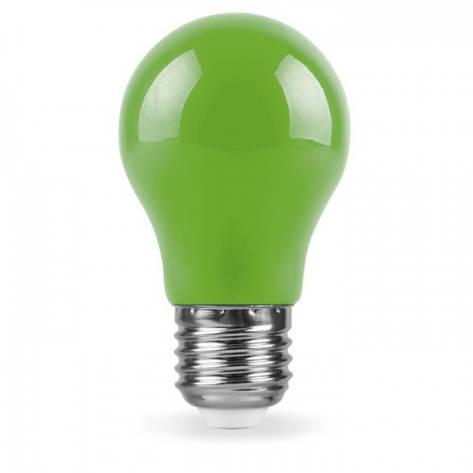 Светодиодная лампа Feron LB-375 A50 230V 3W E27 зеленый, фото 2
