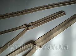 Молния спираль YKK 80cm 573 бежевая 1бегунок разьемная