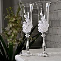 Набор бокалов для шампанского ручной работы Bohemia Angela 190 мл х 2 шт (106)