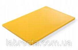 Доска разделочная Hendi 825655 HACCP 600x400 мм - жёлтая