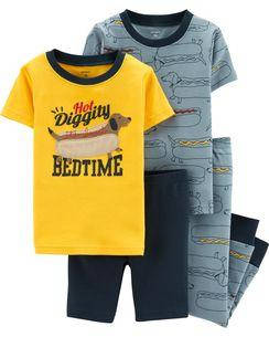 Комплект бавовняних піжам Хот-Дог з 4-х частин, фото 2