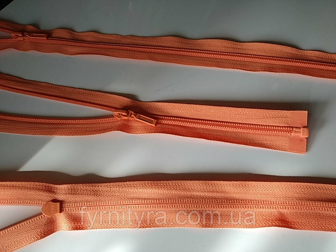 Молния спираль YKK 80cm 1бегунок разьемная оранжевый