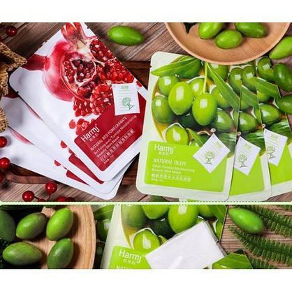 Тканевая маска для лица Harmj с экстрактами плодов оливы и граната. 25 мл, фото 3