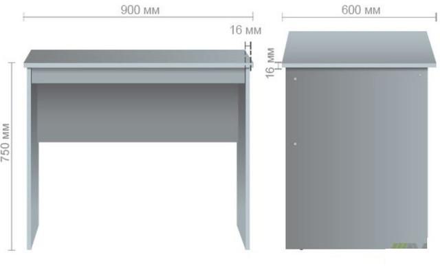 Стол ОМ-101 (900х600х750) размер