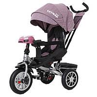 Велосипед трехколесный TILLY CAYMAN с пультом и усиленной рамой T-381/4 Фиолетовый лен