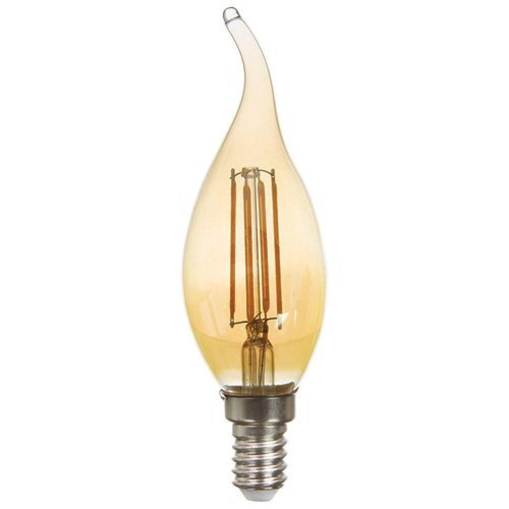 Светодиодная лампа Feron LB-59 CF37 E14 230V 4W 400Lm 2200K золото