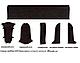 Плинтус пластиковый Lineplast L070 Панга-Панга с кабель каналом напольный пластиковый плинтус, фото 8
