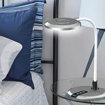 Настольная лампа Feron DE1731 8W 3000К-4000К-6000К 480lm Серая, фото 3