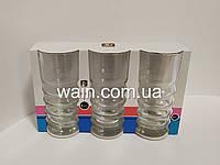 Набор стаканов 365 мл 3 шт стеклянных для напитков, коктейлей, сока, молока UniGlass Twist, фото 1