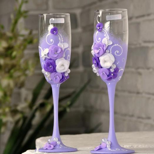 Набор бокалов ручной работы для шампанского Rona Gala 200 мл х 2 шт (1403)
