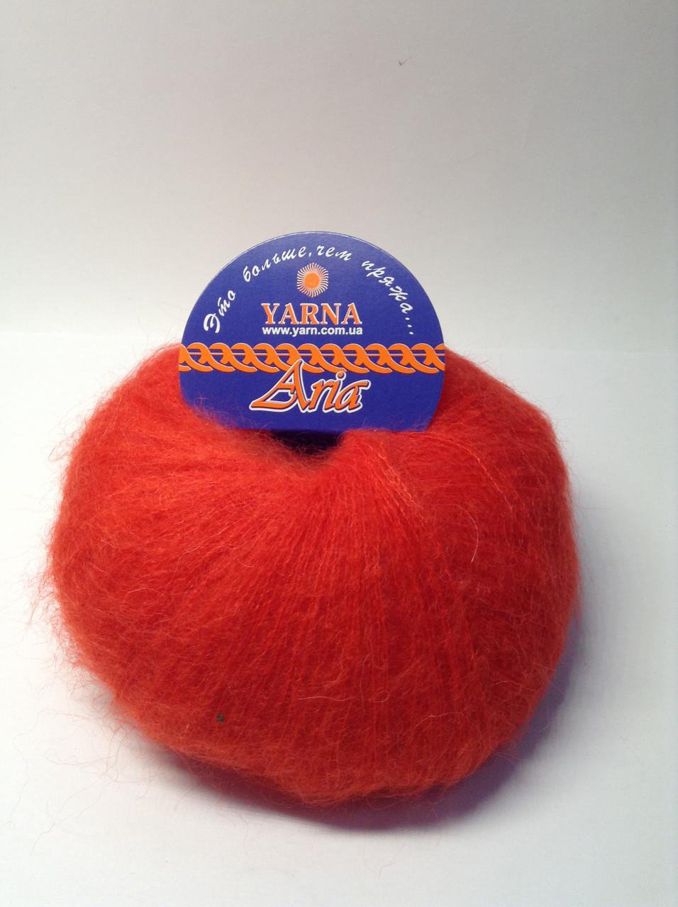 Пряжа для вязания Aria Италия (35% беби альпака, 35% мохер, 30% нейлон)