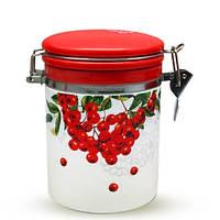 Емкость для сыпучих продуктов 0.75 л Калина красная Snt 629-14