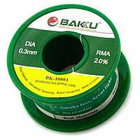 Припой BAKU BK-10003, Sn 97% ,Ag 0.3%, Cu 0.7%, Flux 2%, 0,3mm, 50g