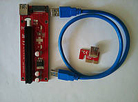 Удлинитель шины PCI-E (Райзер PCI-E 1x to 16x PCE 164P-N03 ver 007S  60см)