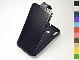 Откидной чехол из натуральной кожи для Blackview A60 Pro