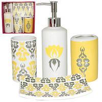 Набор аксессуаров для ванной комнаты 4 предмета Сказка Snt 888-06-011