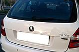 Задняя эмблема 80мм New нового образца черная хром Skoda fabia II 2007-2014 Значок с логотипом Шкода фабия 2, фото 2
