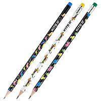 Олівець графітний з гумкою K20-056-2