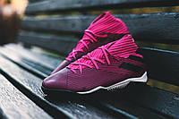 Сороконожки Adidas Nemeziz 19.3 TF Hard Wired - Shock Pink/Core Black