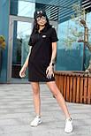 Жіноче стильне плаття-поло у спортивному стилі (в кольорах), фото 6