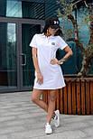 Жіноче стильне плаття-поло у спортивному стилі (в кольорах), фото 8