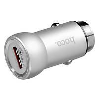 Автомобільний зарядний пристрій HOCO Z4 1USB 2,1A QC2.0 Silver
