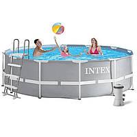 Intex 26718 Каркасный бассейн 366 х 122 см Лестница, фильтр-насос., фото 1