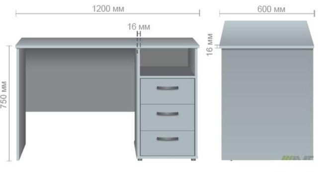 Стол однотумбовый ОМ-82 бук размер