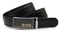 Ремень BOSS для брюк кожаный