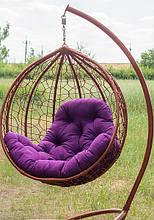 Підвісне садове крісло гойдалка кокон крапля куля плетене з ротанга Українські Конструкції Еко-Преміум