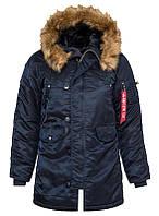Жіноча зимова куртка аляска Alpha Industries N-3B W Parka WJN44502C1 (Rep.Blue), фото 1