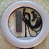 Кольцевая лампа широкая  с пультом. 32 см. От сети 220 в. Полный комплект, со штативом ., фото 2