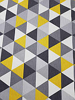 Тефлоновая ткань DUCK принт ТРЕУГОЛЬНИКИ цвет серый