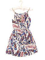 Красивое приталенное платье с модным принтом (42-44)