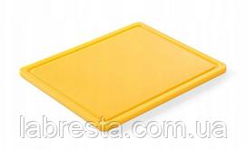 Доска разделочная Hendi 826157 HACCP GN 1/2 - желтая